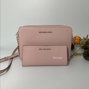 Michael Kors JS Item LG EW Crossbody and Wallet